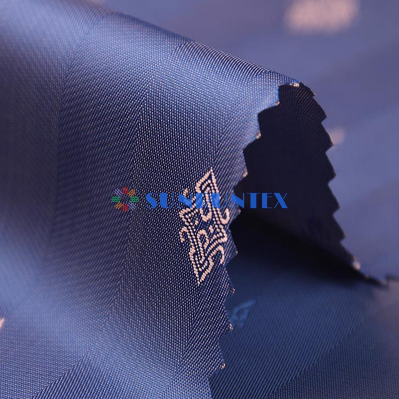 smooth hand feeling polyester and viscose jacquard mens suit lining