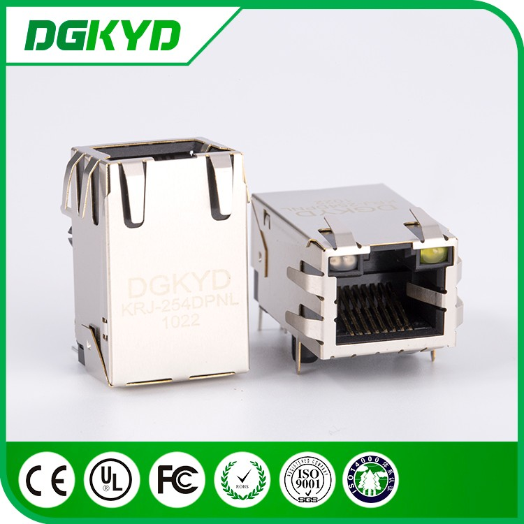 Metal shielded 6 pin rj45 port jack, cat5 , ground line