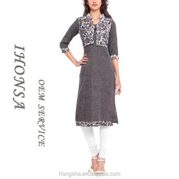 Long Sleeve Neck Designs Of Kurtis Dress Fashion Jacket Kurti Design