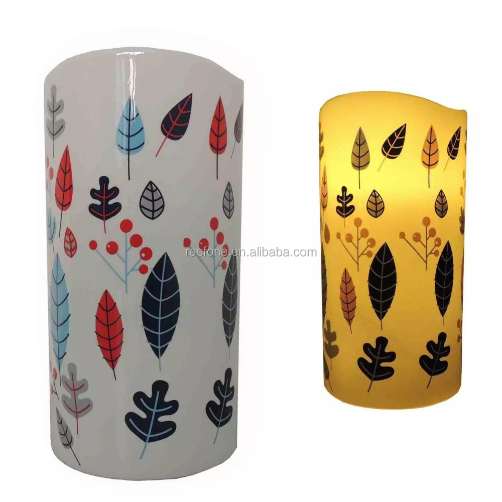 Deqogo Xmas Cheer Digital Printed Flameless LED Candle