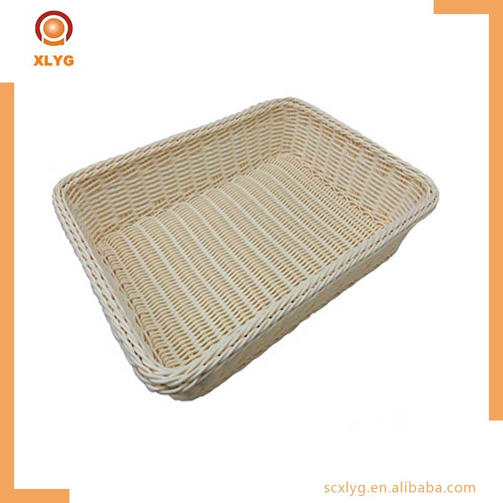Multifunction fruit decorative basket PP imitation rattan storage baskets