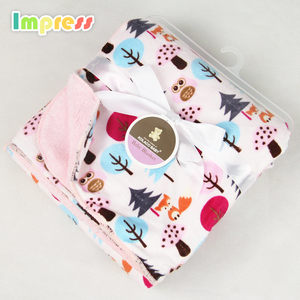 Soft breathable warm baby blanket fabric flannel fleece blanket throw