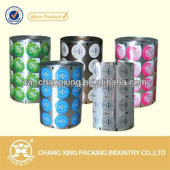Custom Printed Food Grade Plastic Cup Sealing Film For Bubble Tea ...