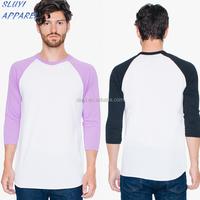 Custom Mens Tall Tee Extra Long Side T shirts High Quality Plain White 160g cotton tee shirt men