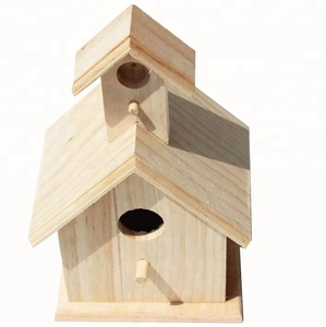 Artificial Raw Dry Wooden Bird Nest , Cheap Chinese Wooden Carved Bird House