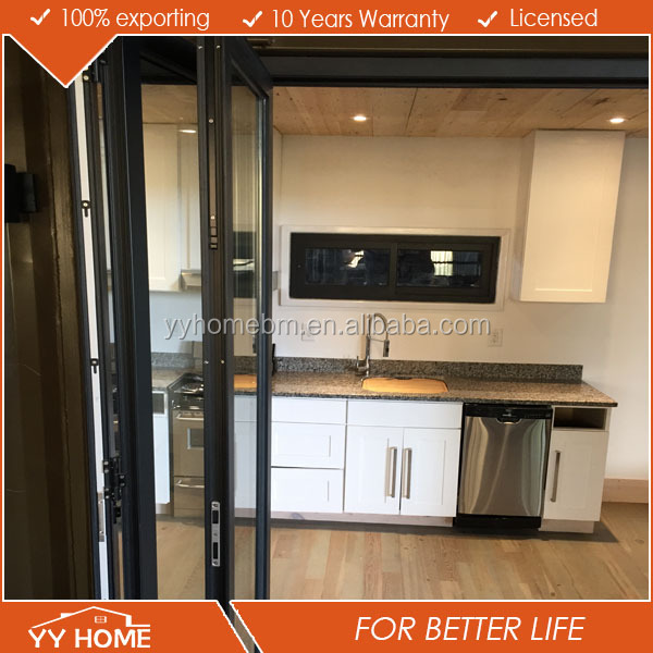 USA aluminum motor cheap folding door / folding door hardware / aluminum modern exterior glass folding door
