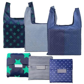 Foldable Reusable Grocery Bags Eco-Friendly Nylon Waterproof shopping bags