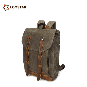 a45b4f556344 Loostar Waterproof Canvas School Bag Backpack Travel Manufacturers China