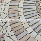 Custom Handmade Stone Mosaic Art Medallion Square China Wall Floor Tiles Murals For Vintage Home Style