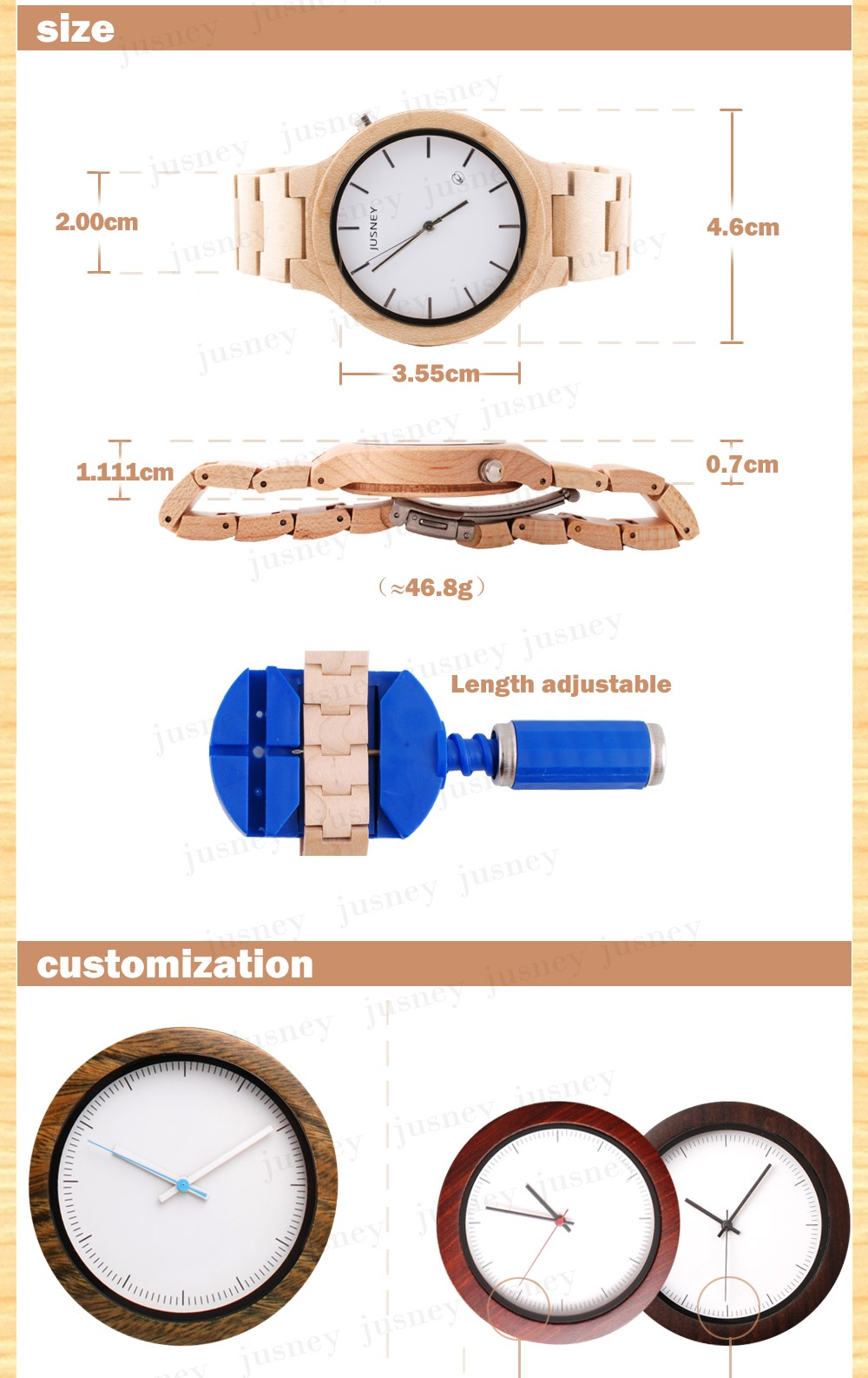 Wholesale Fashion Bamboo Watch Men Custom Logo Well Wood Wrist Watch Cheap Handmade Ebony Strap 2017 Women Wooden Watches