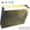 luxury recycled gold paper shopping bags for garments