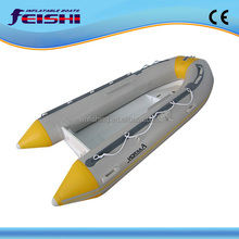 latest model thicker alloy hull RIB boat Hypalon inflatable tube aluminum hull boat