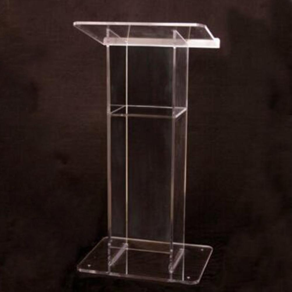 Hot Selling With Cross Shape in Holder Acrylic Church Podium in Simply Design