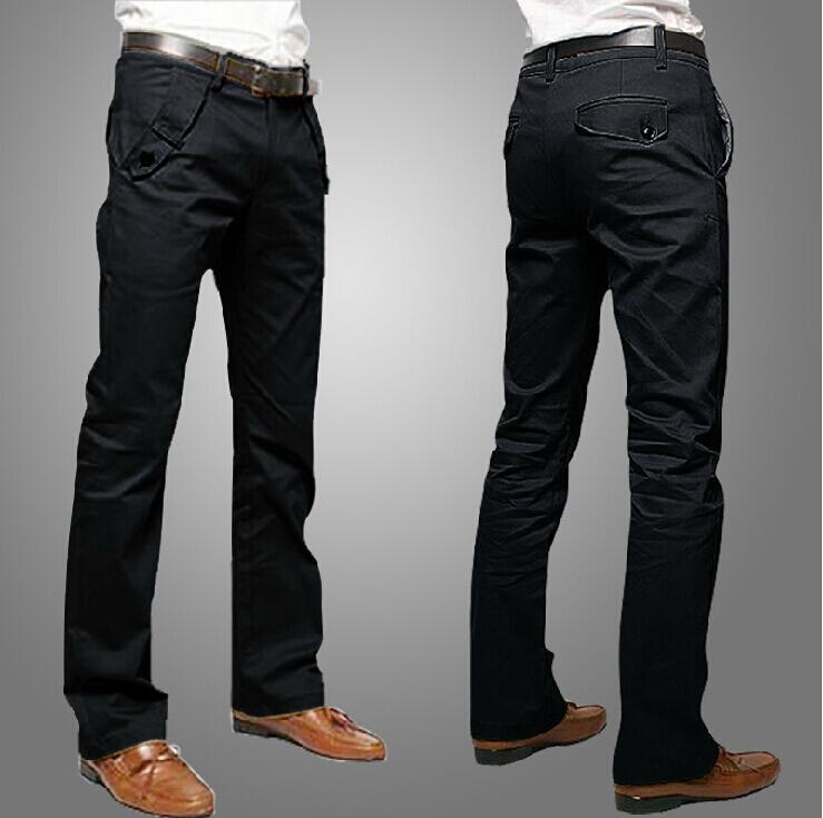 Grey Pants Black Blazer Brown Shoes