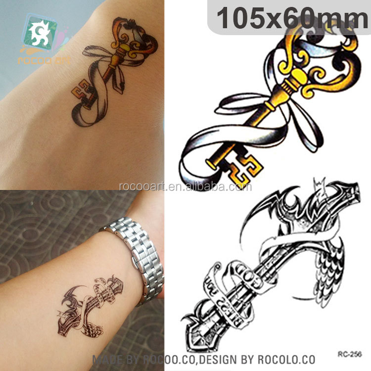 RC256/Popular Temporary Feature and Tattoo Sticker Type The Key Tattoo Designs For Man