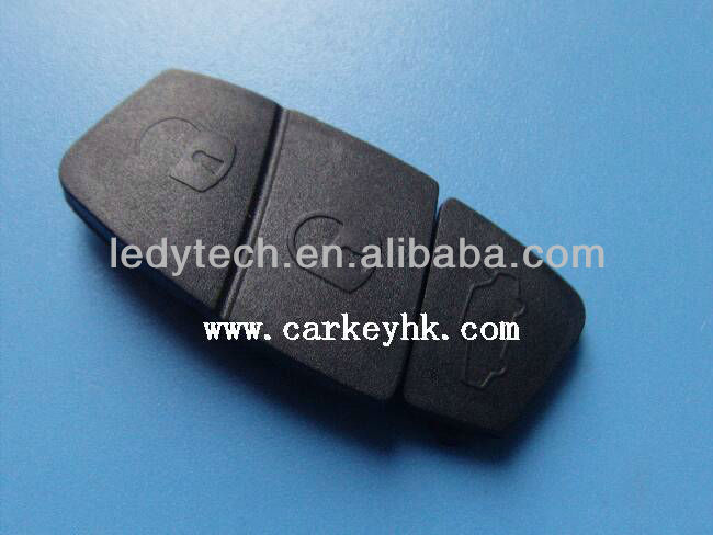 New Black Fiat flip remote key 3 button rubber pad