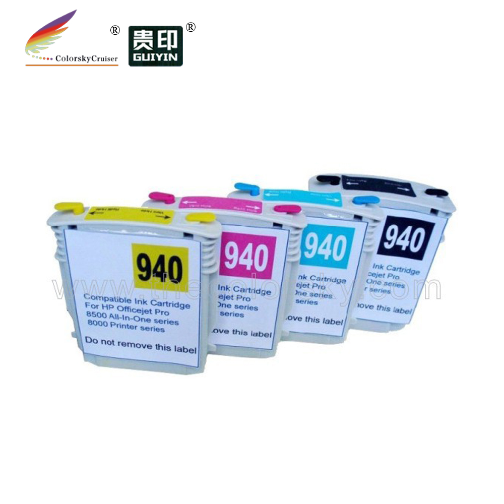 ( rch940) navulbare inkt cartridge voor hp 940 hp940 Officejet Pro 8500 alles-in-een 8000 printer gratis levering met dhl