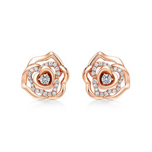 sdl jewelry 18K rose gold earrings 2 gram gold beautiful designed earrings
