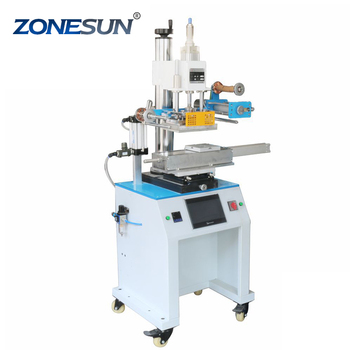 ZONESUN ZY-819R 150*230mm Customized Round or Cap cosmetic bottle hot foil stamping embossing machine