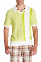 Brandon Retro Polo Sweater short sleeve Spread collar 100% pima cotton