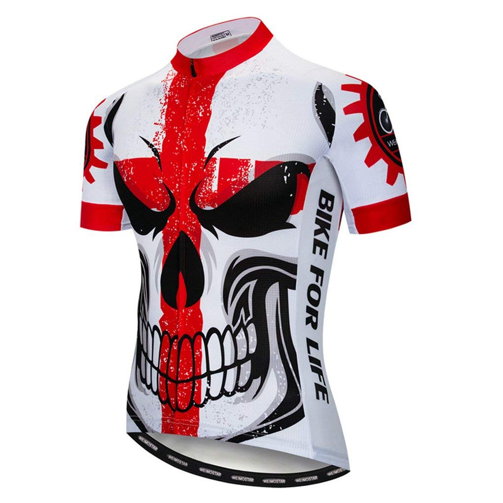 6bce258e Get Quotations · Cycling Jersey Shirt Summer MTB Skull Bicycle Short Sleeve  Bike Clothing Shirts