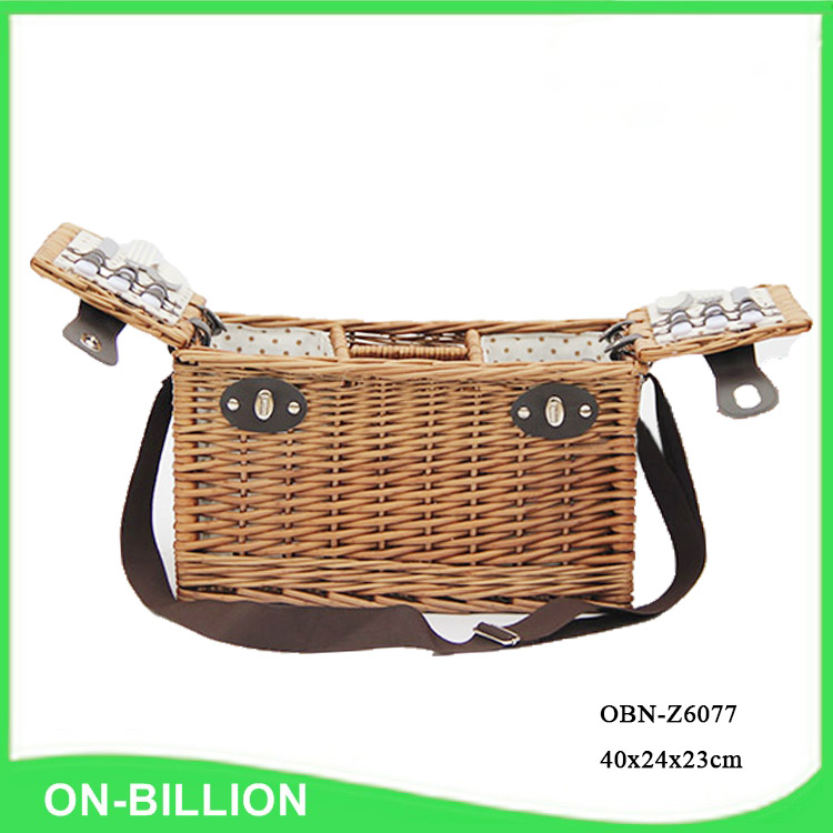 Bulk Vintage Rattan Wicker Picnic Basket For 2 Person For Set ...