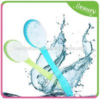 body sponge with handle ,H0T030 pe bath brush