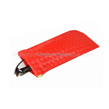 Hot selling soft leather eyewear pouch,microfiber glasses pouch,glasses sleeve