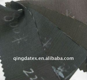 Shaoxing manufacture whole colored stock tr shiny suit fabric