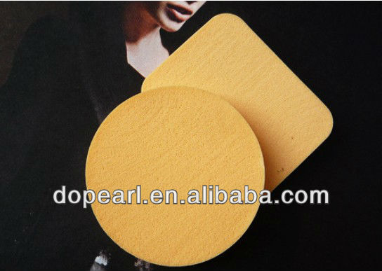 soft yellow facial foundation sponges