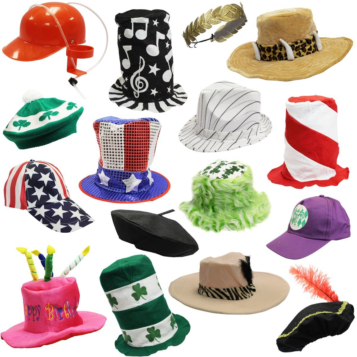 6 assorted dress up costume party hats by funny party hats 6 adult costume