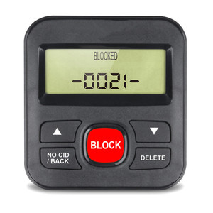 Telephones Call Blocker Black Block Digits LCD Display Safety Security For Bank Home Office