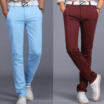 0d04d02abc7c4 Huade moda nuevo estilo de los hombres chinos hombres pantalones chino Multi  colores adecuados
