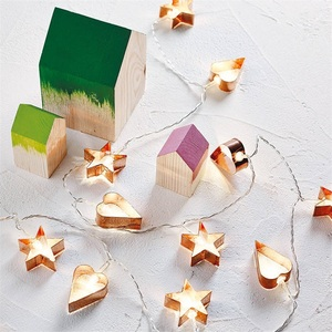 Home Decoration Metal Cake Mould Shape Led String Lights