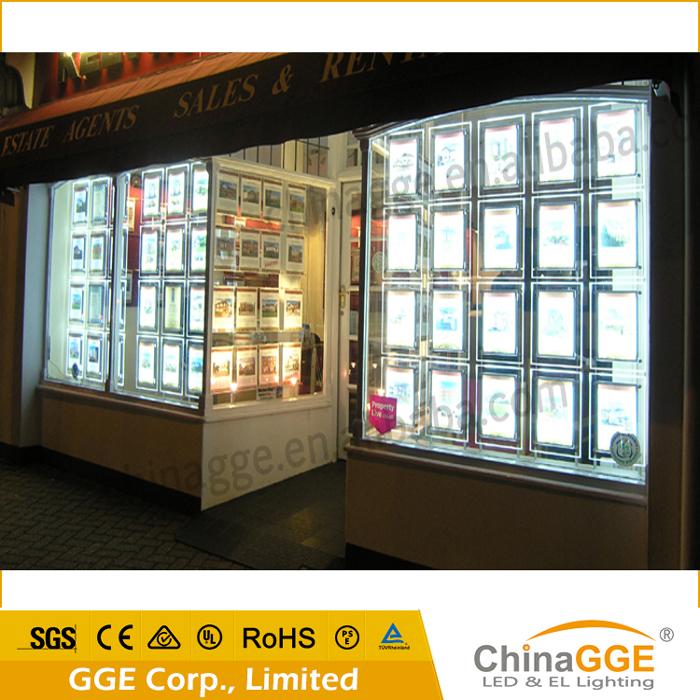 Slim Backlight Led Frame Acrylic Light Panel Real Estate