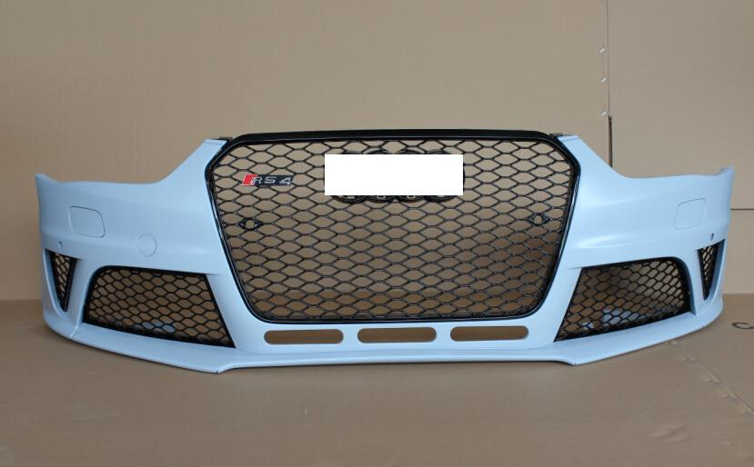 Front Body Kits for Audi A4 Bumper with Grill Fog Lamp Cover RS4 B8.5 Body Kit