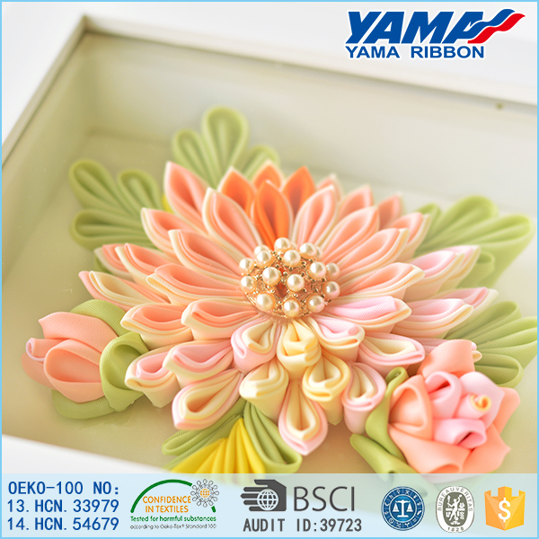 Custom style handmade flower wall decoration artificial flower with photo frame