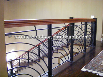 High Quality Interior Wrought Iron Stair Railings