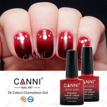 50801x Nail Art CANNI 24 Colors OEM 7.3ml Soak off UV/LED Chameleon Themral Thermal Thermo UV Nail Color Changing Gel Polish