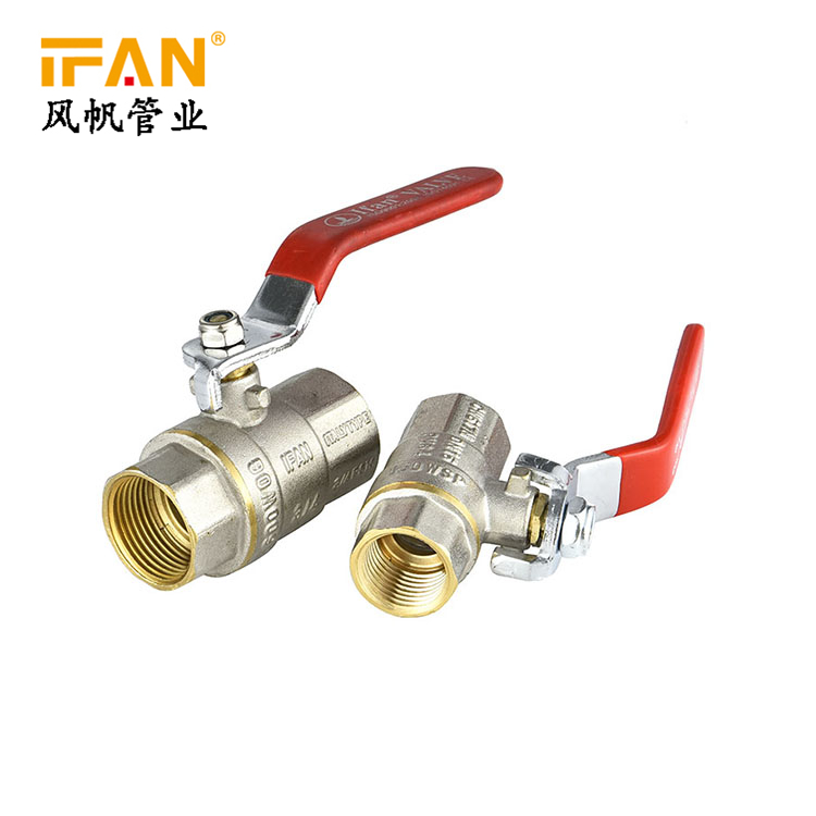 Valve Manufacturer Red Handle 1/2 3/4 1inch FxF Ball Valve Quarter Turn Lever Ball Valve