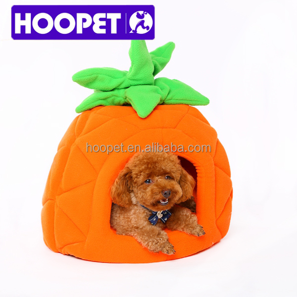 Pineapple shaped dog house cute fruit pet bed