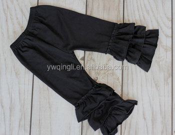 543d11fafaf8e Daily Deal!! Black Ruffle Pants Capris Boutique Ruffle Leggings Baby  Toddler Little Girl Ruffle Pants - Buy Girls Cotton Ruffle Pants,Baby Girl  Cotton ...