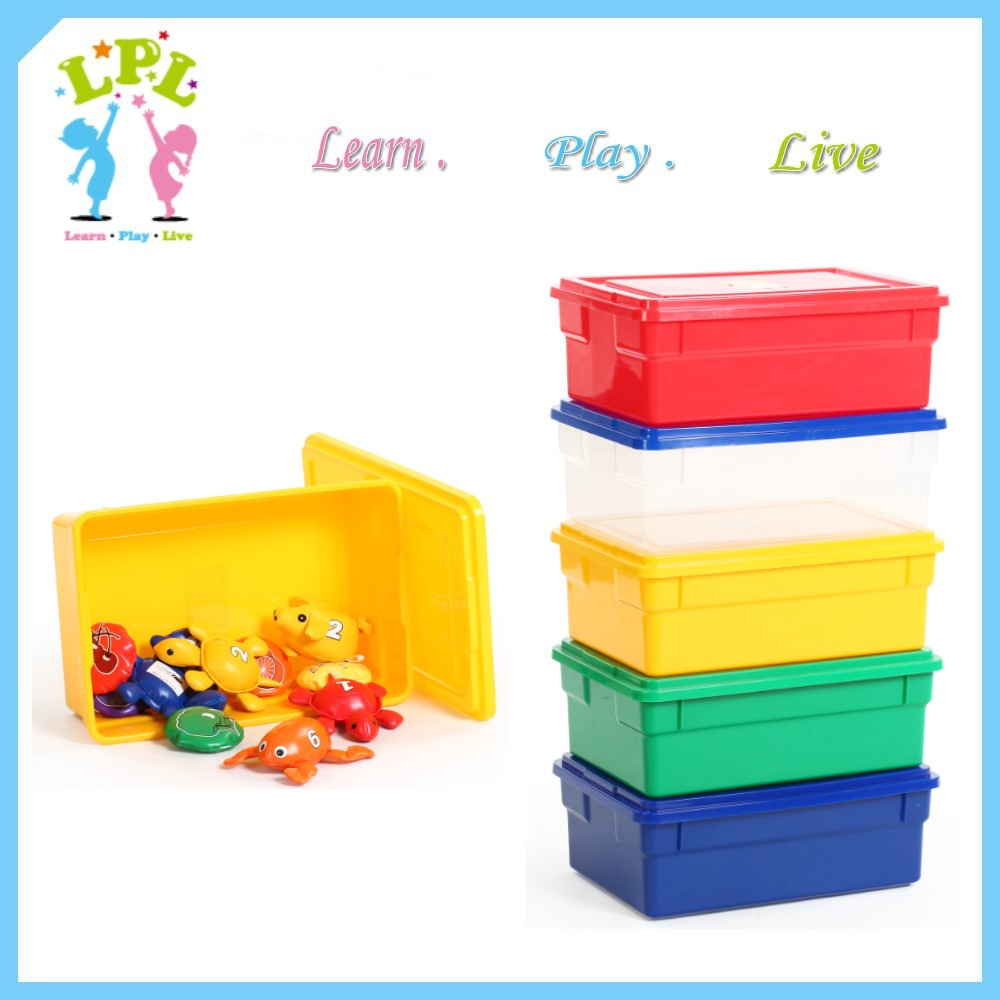 Eco friendly PP material plastic box kids toy snacks books storage unit