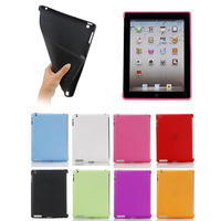 China supplier true color soft TPU case for ipad 2/3/4( can together with smart cover)