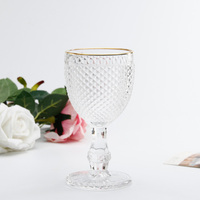 Gold Rim Wine Glass goblets wine glass cup