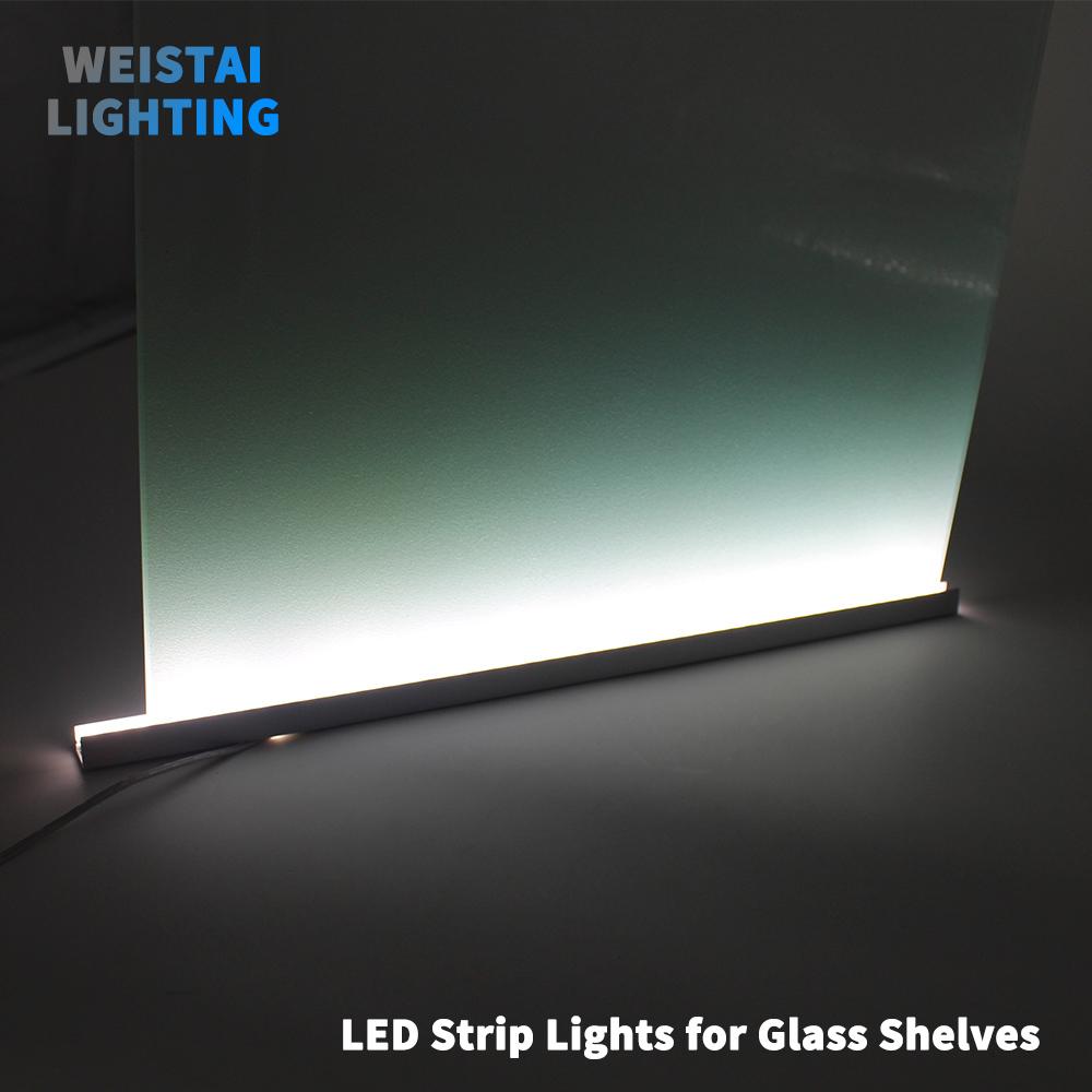 aluminium bar met led verlichting voor glas planken acryl boord pmma laminaat