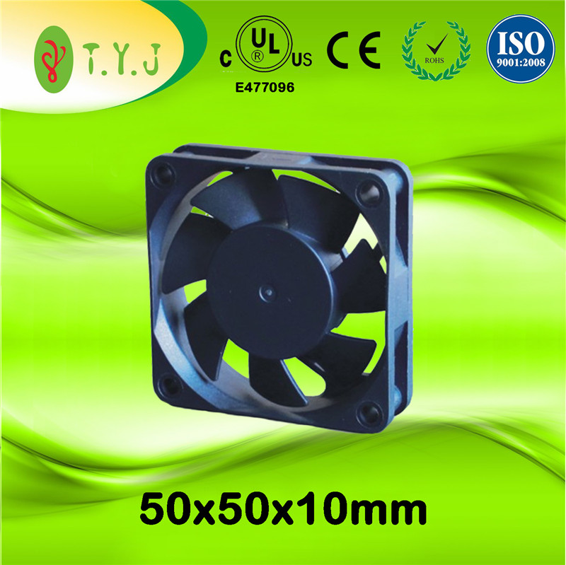 manufacturer 5v 12v 24v 50x50x10mm dc axial fan for power supply