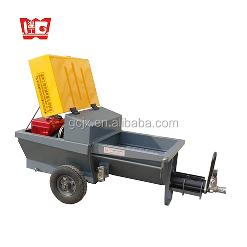 diesel wall cement mortar plaster rendering machine