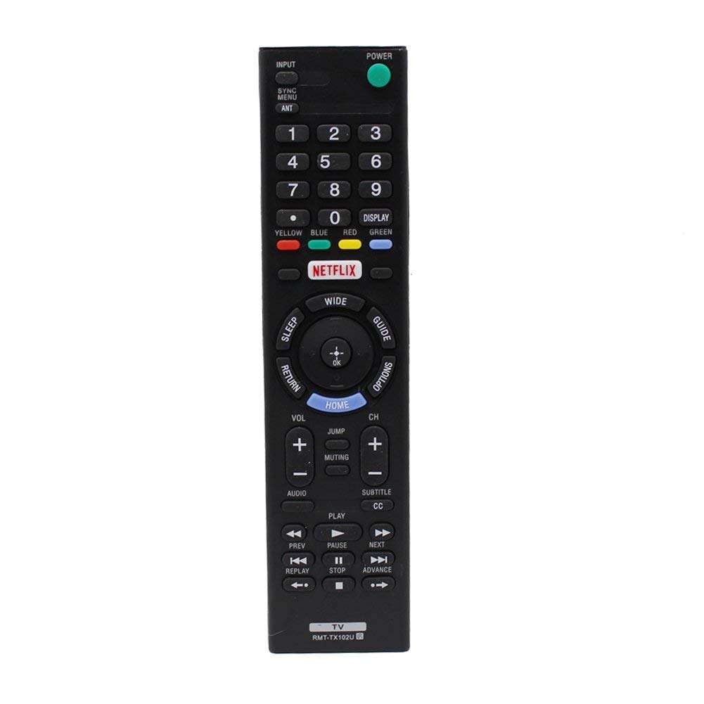 New RMT-TX102U Replaced Remote fit for Sony TV KDL-48W650D KDL-32W600D KDL-40W600D KDL-32R500C KDL-32W650D KDL-40R510C KDL-40R530C KDL-40R550C KDL-55W650D KDL-48R510C KDL-55W6500D KDL-55W6500