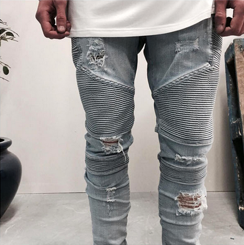 New Style Boys Pants Jeans Biker Men Ripped Jeans Wholesale Price ...